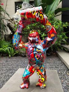 The Big Graffiti Art King Kong Gorilla Monkey Sculpture Statue 40CM New Arrival