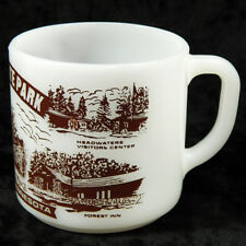 Itaska State Park Souvenir Coffee Mug Minnesota Federal Glass White Cup