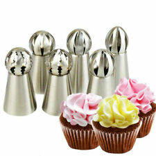 6 pcs/set Ball Tips Piping Ruffle Icing Tips Nozzles Cupcake Cake Decorating