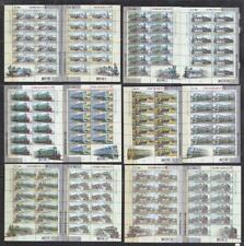 LRT218 - LOCOMOTIVE RAILROAD TRAIN STAMPS UKRAINE 2000 TRAINS SHEET X12 MNH
