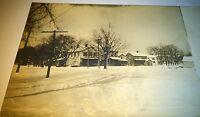 Antique American RPPC of Beautiful Winter Town Street Scene! Real Photo Postcard