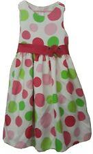 Girls Big Polka Dots Dress Semi Formal Colorful Sz 10 American Princess Back Tie
