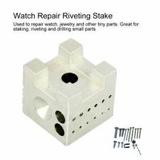 Mini Watch Jeweler Repair Holder Tool Dapping Doming Block Metal Watchmaker Tool