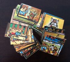 Asterix and Obelix Vintage French Cartoon Huge 163 Sticker Card Lot