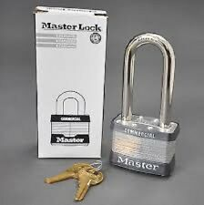 Master Lock Commercial 2 Inch 4 Pin Tumbler Padlock 5KALJ A253 Key Long Shackle