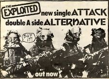 1/5/1982Pg47 Single Advert 7x10 The Exploited, Attack