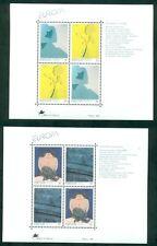 EUROPA 1993 Azores + Madeira Souvenir sheets NH, VF Scott $13.00