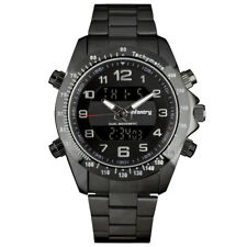 Infantry IN-074-BLK-S 46mm Black Dial Silver Stainless Steel Band Wrist Watch for Men