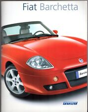 Fiat Barchetta 1.8 2004-2006 UK Market Sales Brochure