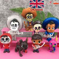 8pcs/set Movie Coco Pixar Miguel Riveras Action Figure Toys Collectors Toys