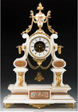 A Louis Xvi-Style Gilt Bronze And Marble Clock With Glass Dome, 19T. Lot 65978