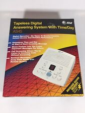 AT&T AS45 Tapeless Digital Answering Machine with Time Day Great Condition