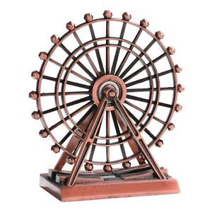JW_ HK- The London Eye Creative Metal Ferris Wheel Ornament Home Desk Decor Gi