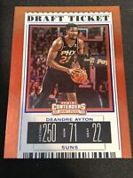 2019-20 Panini Contenders Draft Picks Deandre Ayton Draft Ticket Blue Foil