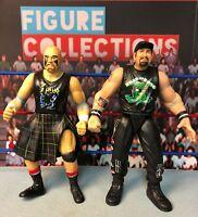 WWE USED Jakks Wrestling Figures Lot Bone Crunching BCA Thrasher Road Dogg