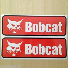 Pair of Printed Orange Bobcat Decal Stickers for SKID STEER Loader