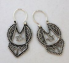 "Bali Thialand 2"" Filigree 925 Sterling Silver Earrings NEW!"