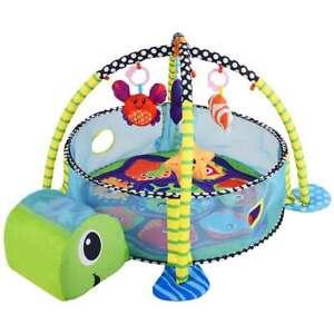Palestrina Box Tartaruga Pois Tappeto Neonato Bambino Fitch Baby Recinto Palline