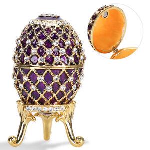 Enameled Eggs Easter Egg Crafts Gilded Enamel Painted Metal Ornaments Home Decor