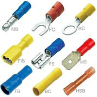 INSULATED CRIMP TERMINALS RING SPADE BUTT FORK BULLET ELECTRICAL WIRE CONNECTORS
