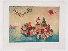 Israeli Artist Raffi Kaiser Limited Edition Lithograph. Signed. 111/150