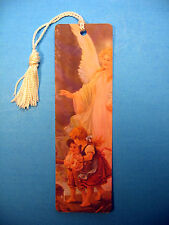 """Traditional Guardian Angel"" Image on a Tassel Bookmark (white tassel) Sku# 556"
