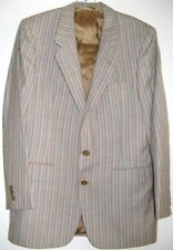 OLEG CASSINI SPORTS JACKET STRIPED USA Size Small VINTGE 1960's