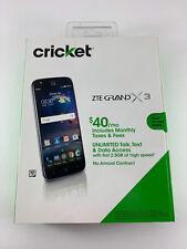 ZTE Grand X 3 - 16GB - Black (Cricket) Smartphone Brand New Factory Sealed Box