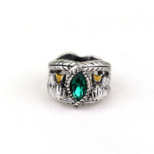 Lord of The Rings Jewelry Aragorn's Ring of Barahir Green Crystal Ring
