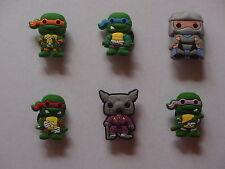 6 X TMNT Teenage Mutant Ninja Turtles Shoe Charms Party Favor Cake Decoration