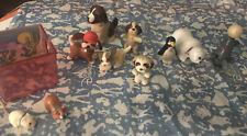Vtg Littlest Pet Shop Kenner 1990's Dogs Hamster Seal Penguin Figures  LOT of 11