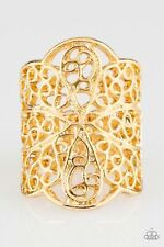 Paparazzi Accessories The Way You Make Me FRILL - Gold  Ring Jewelry
