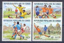 Fußball-WM 1990, Soccer - Kongo, Congo - 1144-1147 ** MNH