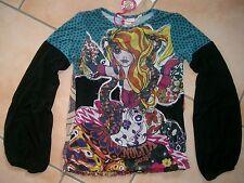 (813) Nolita Pocket Girls Materialmix Shirt + Mädchen Besatz & Logo Druck gr.152