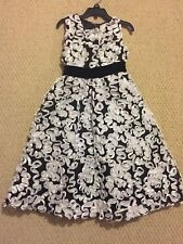 "NEW ""BLACK & WHITE BONAZ"" Easter Dress Girls 6 Spring Summer Boutique Clothes"