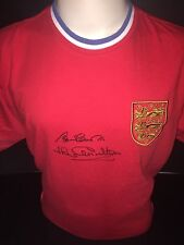 Signed England Retro 1966 Shirt By Bobby & Jack Charlton