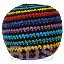 Color Stripe Guatemalan FootBag Hacky Sack New Sport Foot Bag HS25