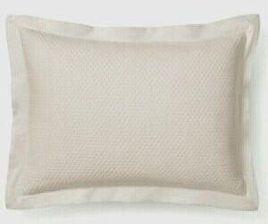 Fieldcrest Quilted Diamond Matelasse Light Beige Standard/Queen Pillow Sham
