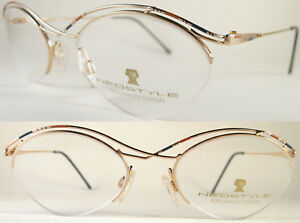 Rare Handcrafted Neostyle Ladies Optical Frame, Lightweight, Metal, Multicolour