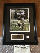 Reggie Bush Signed Collage Rookie 1st Game w/ Piece of  Jersey 31/100