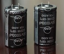 RM Audio Electrolytic capacitor 10000u 50V snap-in 2pc !!
