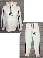 NIKE MENS WHITE AIR MAX POLY OVERHEAD HOODIE / TRACK PANTS *SOLD SEPARATELY* AD