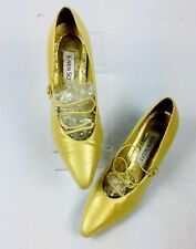 "Karen Scott Shimmer Women Gold Dress Pump Size 9 B (1/2"" lift Right Heel)"