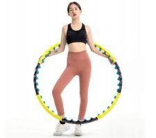 Hula Reifen Ø 110 cm, schwarz/gelb, B-Ware, Hoop, Fitnessreifen mit Magneten
