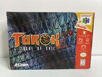 TUROK 2: Seeds of Evil (Nintendo 64 1998) Complete In Box! CIB N64 Game NM