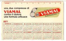 Calendario da tasca Calcio 1970-1971 Serie A e Serie B Viamal R503 ^