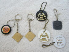 Sobriety Key Chains, One Day At A Time, 6 total