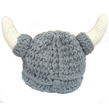 Baby Photography props Viking hat with horns knitted hat