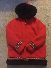 Women's Hudson Bay 100% Wool Parka Coat. Quilted Lining