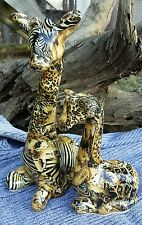 "Giraffe Set Mother Baby African Exotic Design Pattern Animal Print Decor 11"" 7"""